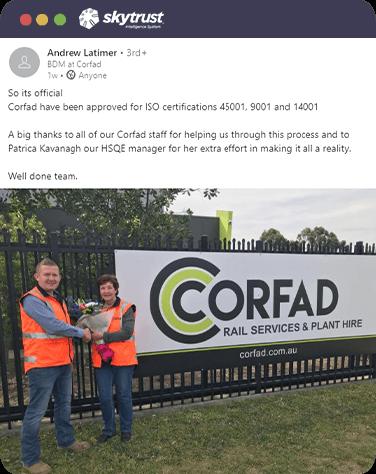 Corfad Civil ISO